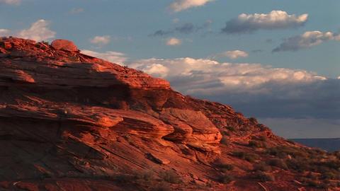 Medium-shot of sandstone cliffs near Lake Powell, Arizona Stock Video Footage
