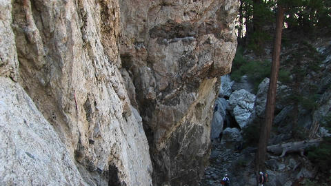 Medium-shot of a biomorphic rock-formation in Paria... Stock Video Footage