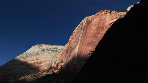 Medium-shot of rippled sandstone cliff walls in Antelope Canyon Arizona Footage