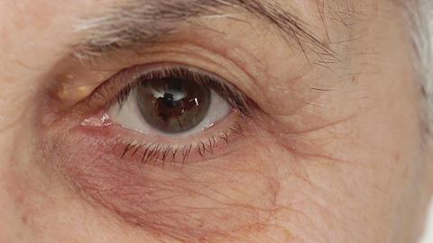 wrinkled old woman's eye Footage