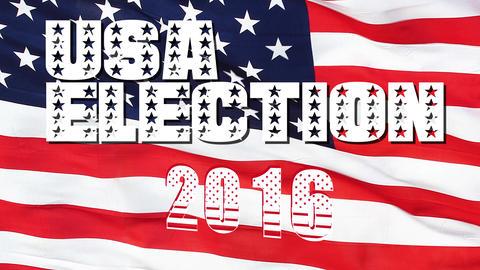 USA 2016 Presidential Election Flag Footage