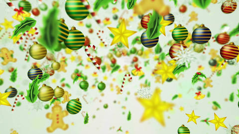 Christmas decoration particles,White background,Loop Animation