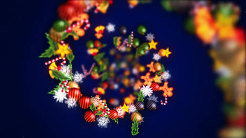 Christmas decoration particles,Blue background Animation