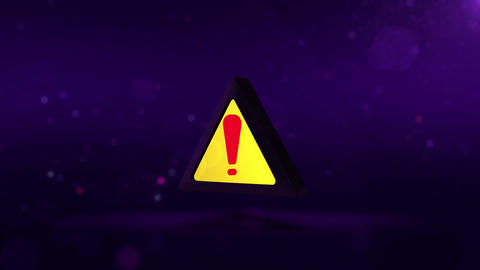 SHA Exclamation Mark Image Violet Animation