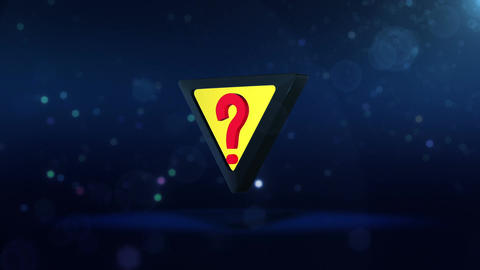 SHA Question Mark Image Blue Animation