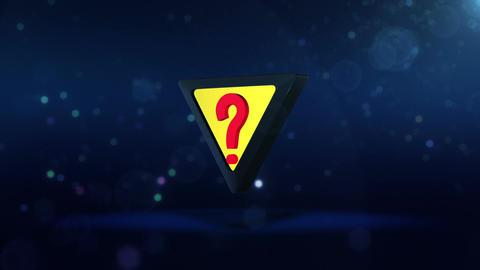 SHA Question Mark Image Blue Animation