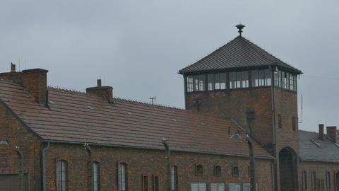 Auschwitz Birkenau Gates Tower Footage