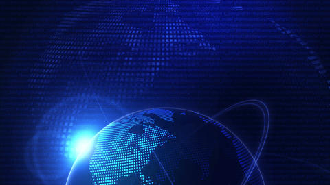 Global Business Network,Blue Earth,Loop Animation