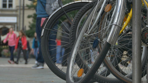 Bicycles and People in the Oldtown Footage