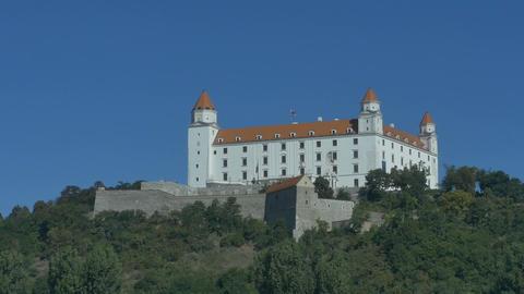 Bratislava Castle View form Danube Footage