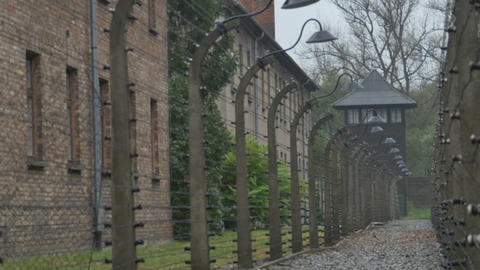 Electric Fences at Concentration Camp Footage