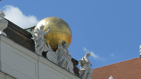 Globe and Antiquity Muses Statues Live Action