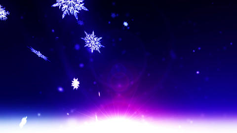 Winter Landscape of Snow Crystal,CG Animation Animation