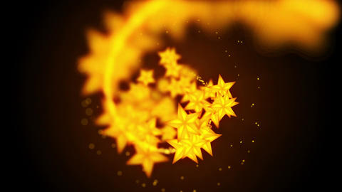 Shining Stars particles,Brown background,CG Animation Animation