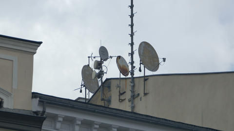 Rusty Television Antennas Footage