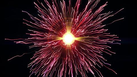 Particle collision and explosion bright pink particles with streams collide and create explosion Live Action