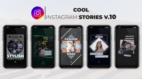 Cool Instagram Stories v 10 After Effects Template