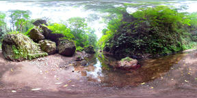 river in the jungle in asia vr360 VR 360° Video