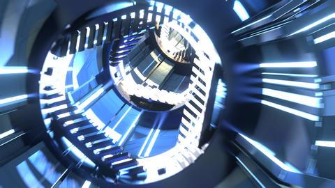 Sci-Fi Tunnel Type B Animation