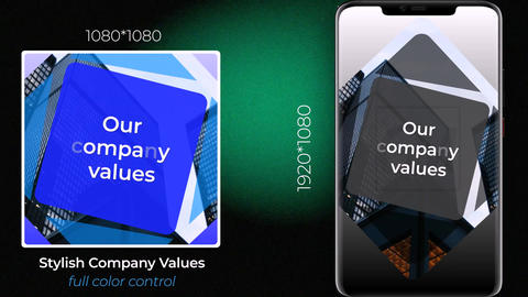 Stylish Company Values After Effects Template