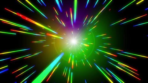Rainbow Space Warp Travel - Version 2 Animation