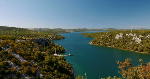 Bridge Over Krka, Croatia Footage