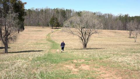 Chancellorsville Virginia Civil War battlefield woman 4K Footage