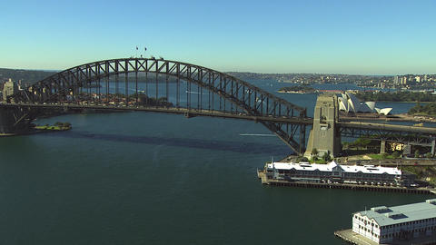 Aerial Sydney Harbour Bridge Footage