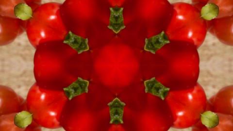 Kaleidoscope fruit vegetable 4k353 Footage