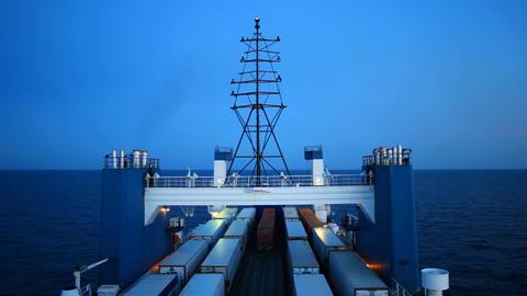 big cargo ferry Footage