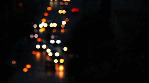 Abstract blurred colorful circles (defocused night city scene) Footage