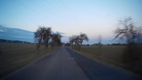 Driving on rural road Footage