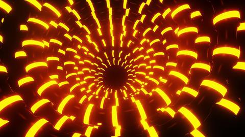 3D Orange Abstract Neon Tubes VJ Loop Motion Graphic Background CG動画