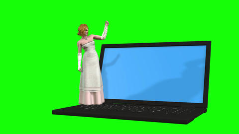 872 4K LOVE MARRIAGE 3D computer generated woman in wedding dress invites all to her wedding Animation