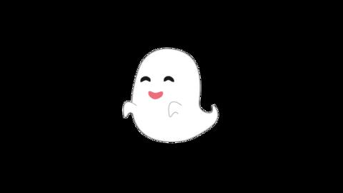 笑うオバケのアニメーション ループ CG動画