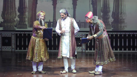Performance in the Indian theater. Agra. Culture of India Live Action
