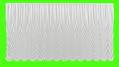 White theater curtain in theater on green background Live Action