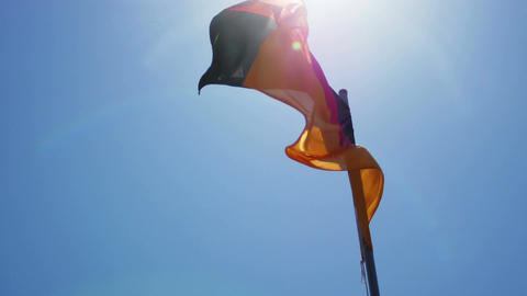 Silky flag of Germany flying in the wind Archivo