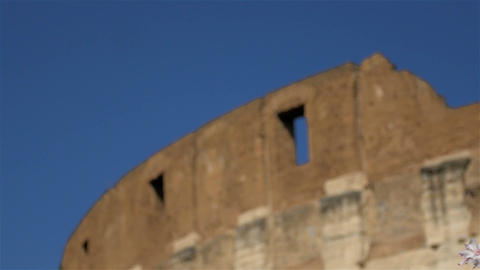 beautiful detail of beautiful Colosseum, Rome Stock Video Footage