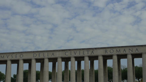 clouds in the sky: timelapse of skyline of Roman... Stock Video Footage