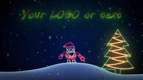 Neon Santa After Effects Template