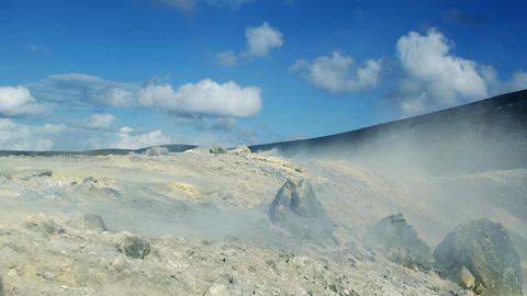 Volcano in activity on Vulcano island in Eolie Archipelago: Sicily, Italy Footage