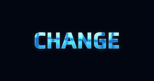 Change. Electric lightning word. Text Animation Animation