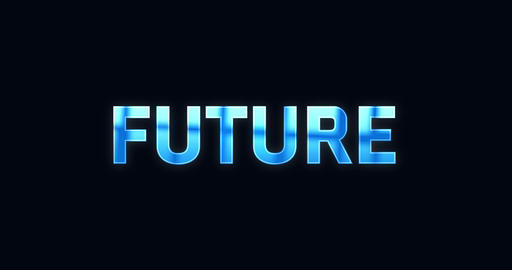 Future. Electric lightning word. Text Animation Animation