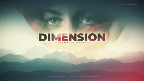 Dimension Cinematic Title After Effects Template