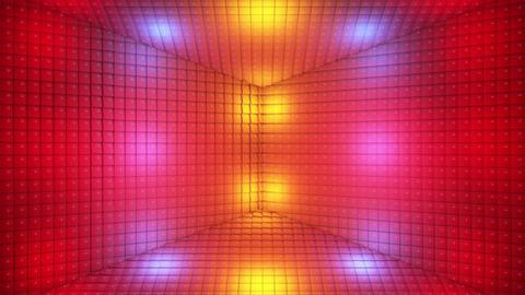 Broadcast Pulsating Hi-Tech Cubes Room Stage, Multi Color, Events, 3D, Loopable, 4K 애니메이션