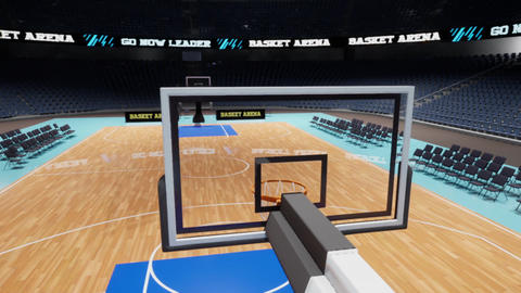 basketball arena flyby Animation