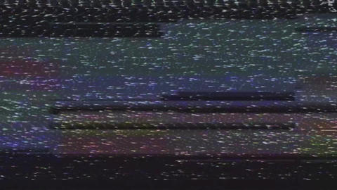 Glitch and VHS effect. Digital pixel black and white noise glitch effect Live Action