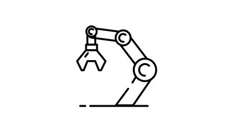 Manipulator line icon on the Alpha Channel Animation