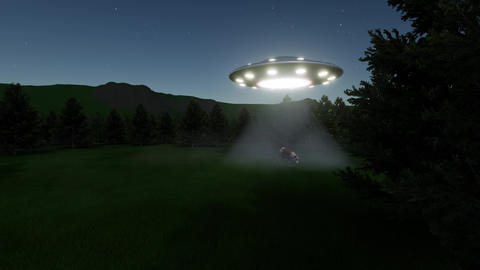 UFO cow in stars night Live Action